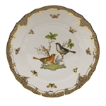Herend Rothschild Bird Brown Dinner Plate Motif #5