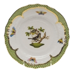 Herend Rothschild Bird Green Bread & Butter Plate Motif #1