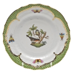 Herend Rothschild Bird Green Bread & Butter Plate Motif #2