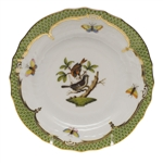 Herend Rothschild Bird Green Bread & Butter Plate Motif #4