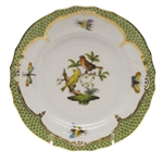 Herend Rothschild Bird Green Bread & Butter Plate Motif #6