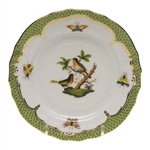 Herend Rothschild Bird Green Bread & Butter Plate Motif #8