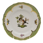 Herend Rothschild Bird Green Bread & Butter Plate Motif #10