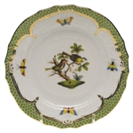 Herend Rothschild Bird Green Bread & Butter Plate Motif #11