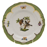 Herend Rothschild Bird Green Bread & Butter Plate Motif #12