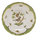 Herend Rothschild Bird Green Dessert Plate Motif #4