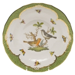 Herend Rothschild Bird Green Dessert Plate Motif #5
