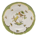 Herend Rothschild Bird Green Dessert Plate Motif #6