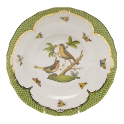 Herend Rothschild Bird Green Dessert Plate Motif #8