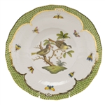 Herend Rothschild Bird Green Dessert Plate Motif #11