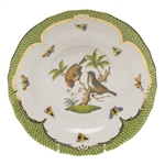 Herend Rothschild Bird Green Dessert Plate Motif #12