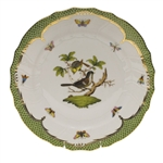 Herend Rothschild Bird Green Dinner Plate Motif #1