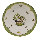 Herend Rothschild Bird Green Dinner Plate Motif #2