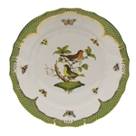 Herend Rothschild Bird Green Dinner Plate Motif #3