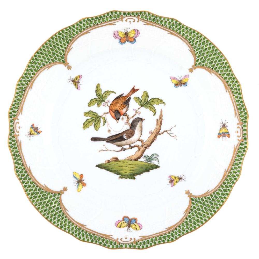 Herend Rothschild Bird Green Dinner Plate Motif #4  sc 1 st  Herendstore.com & Herend Rothschild Bird Green Dinner Plate Motif #4 at Herendstore