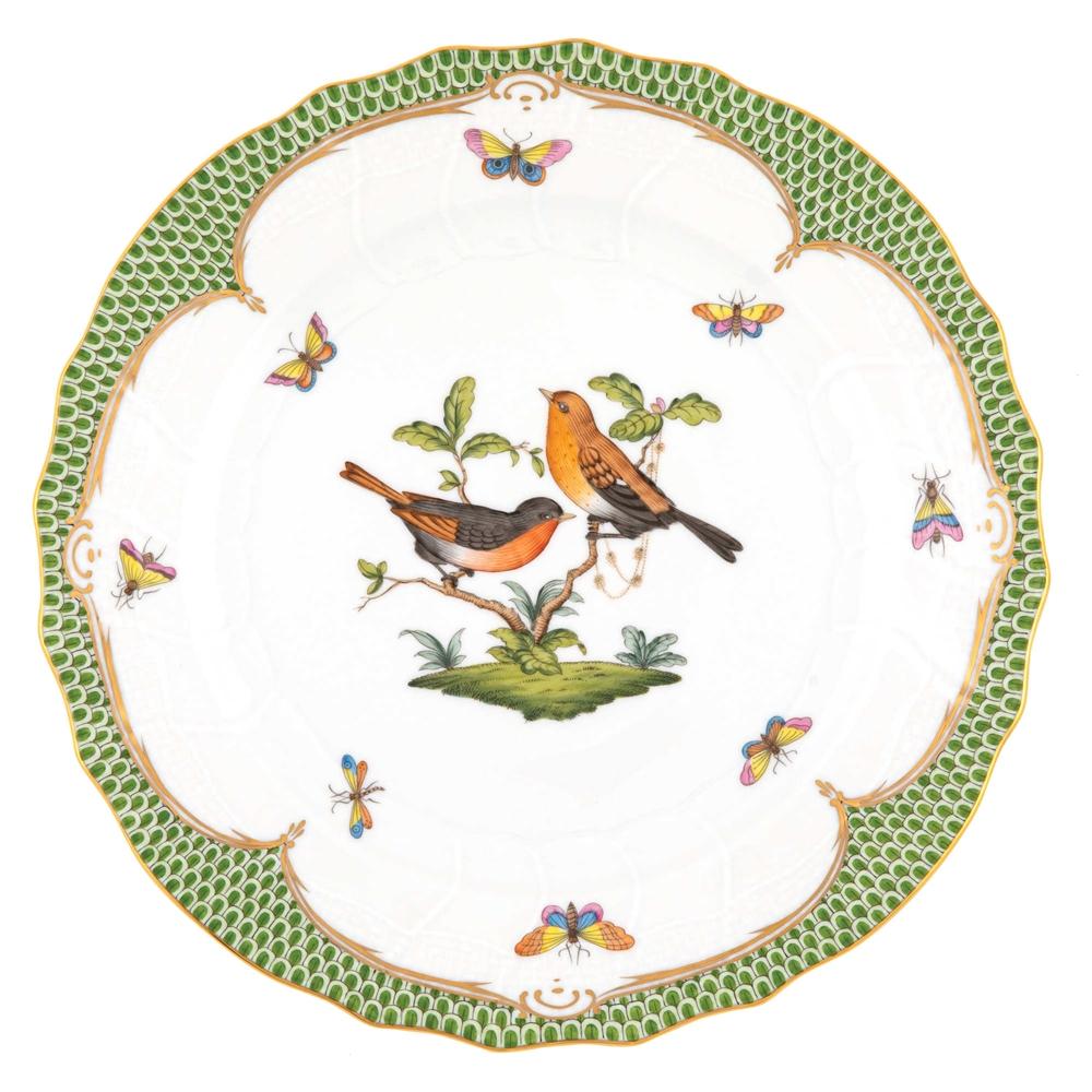 Herend Rothschild Bird Green Dinner Plate Motif 9 At