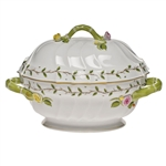 Herend Rothschild Garden Tureen with Branch Handles