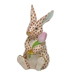 Herend Figurine Blossom Bunny Rabbit Rust Fishnet