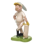 Herend Figurine Golf Bunny Rabbit Rust Fishnet