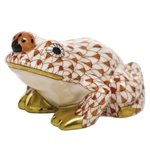 Herend Figurine Frog With Ladybug Rust Fishnet