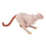 Herend Small Running Cheetah Rust Fishnet