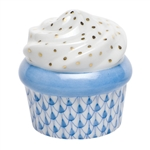 Herend Cupcake Blue Fishnet