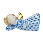 Herend Sleeping Angel Blue Fishnet
