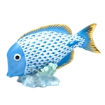 Herend Fish Figurine Surgeonfish Blue Fishnet