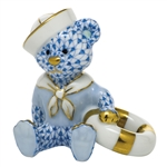 Herend Figurine Sailor Bear Blue Fishnet