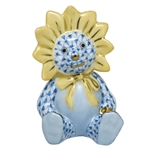 Herend Figurine Sunflower Bear Blue Fishnet