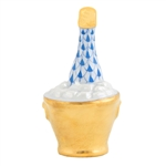 Herend Champagne Bucket Blue Fishnet
