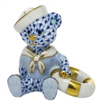 Herend Figurine Sailor Bear Sapphire Fishnet