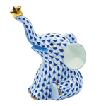 Herend Reach For The Stars Elephant Figurine Sapphire Fishnet