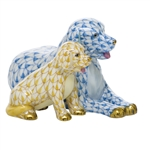 Herend Figurine Mommy and Me Dogs Multicolor
