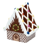 Herend Figurine Gingerbread House Chocolate Fishnet