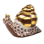 Herend Baby Snail Figurine Chocolate Fishnet