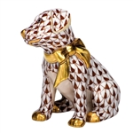 Herend Figurine Doggie Dazzle Puppy Chocolate Fishnet