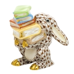 Herend Figurine Scholarly Bunny Rabbit Chocolate Fishnet