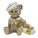 Herend Figurine Sailor Bear Chocolate Fishnet