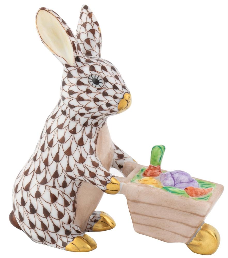 decortive ester ccents easter rabbit decor bunny.htm herend wheelbarrow bunny rabbit chocolate fishnet  herend wheelbarrow bunny rabbit