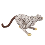 Herend Small Running Cheetah Chocolate Fishnet