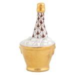 Herend Champagne Bucket Chocolate Fishnet