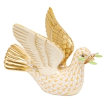 Herend Peace Dove with Branch Butterscotch Fishnet