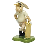 Herend Figurine Golf Bunny Rabbit Butterscotch Fishnet