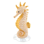Herend Seahorse on Scallop Shell Butterscotch Fishnet
