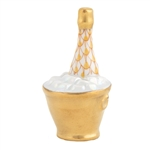 Herend Champagne Bucket Butterscotch Fishnet