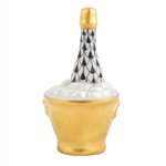 Herend Champagne Bucket Black Fishnet