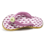 Herend Flip Flop Shoe Figurine Raspberry Fishnet