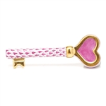 Herend Key To My Heart Figurine Raspberry Fishnet