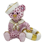Herend Figurine Sailor Bear Raspberry Fishnet
